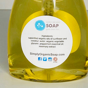 Organic Liquid Foaming Soap - Refill