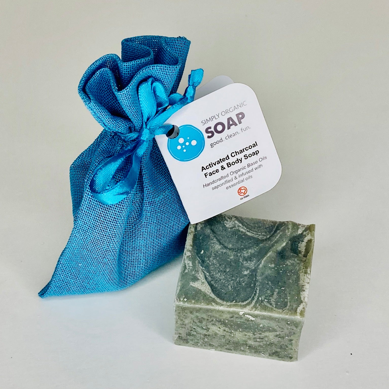 Skin-balancing Charcoal Guest Soap with activated Charcoal