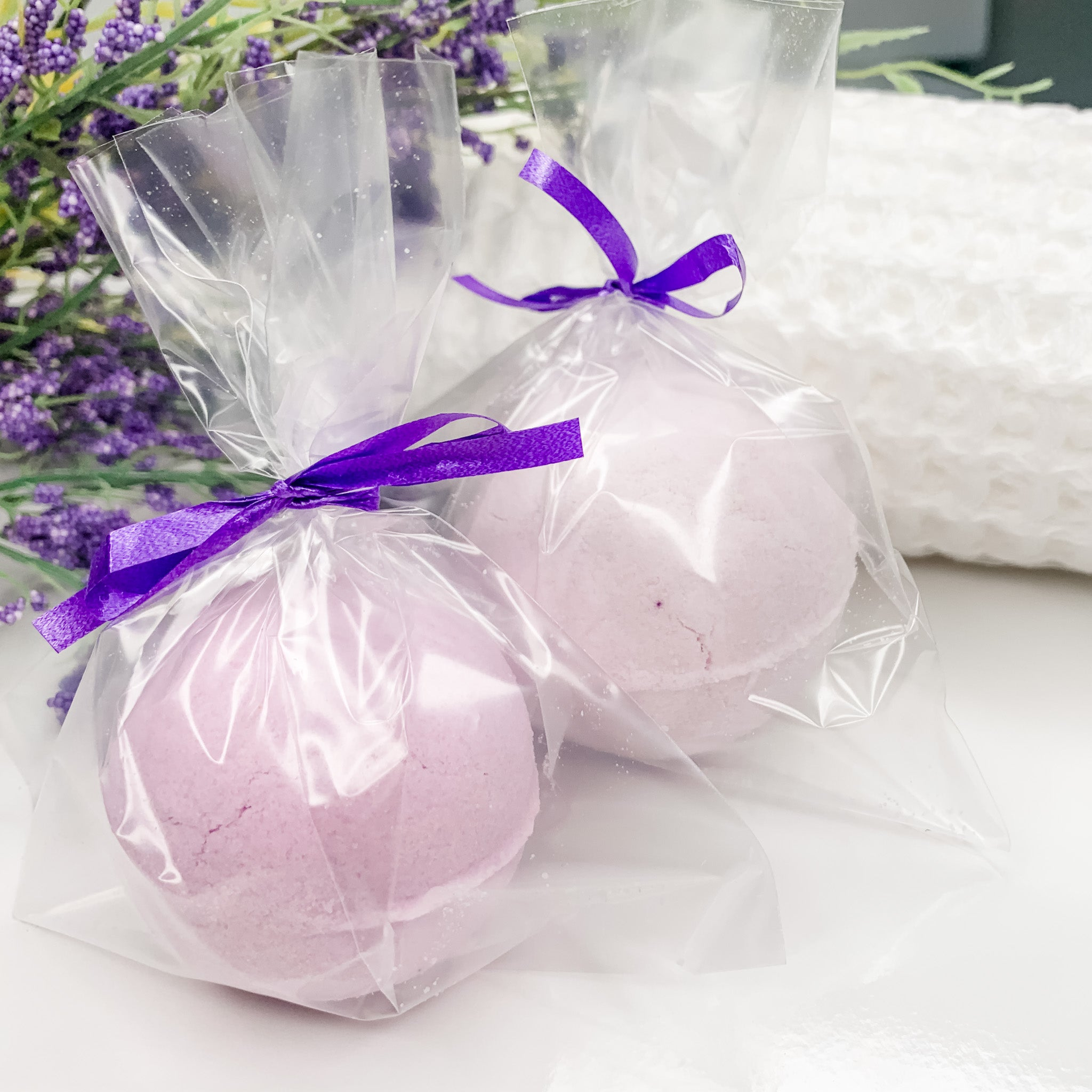 Hand Crafted Bath Bombs with Shea Butter and Lemon, Lavender & Patchouli EO
