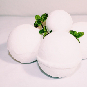 Hand Crafted Bath Bombs with Shea Butter and Peppermint EO