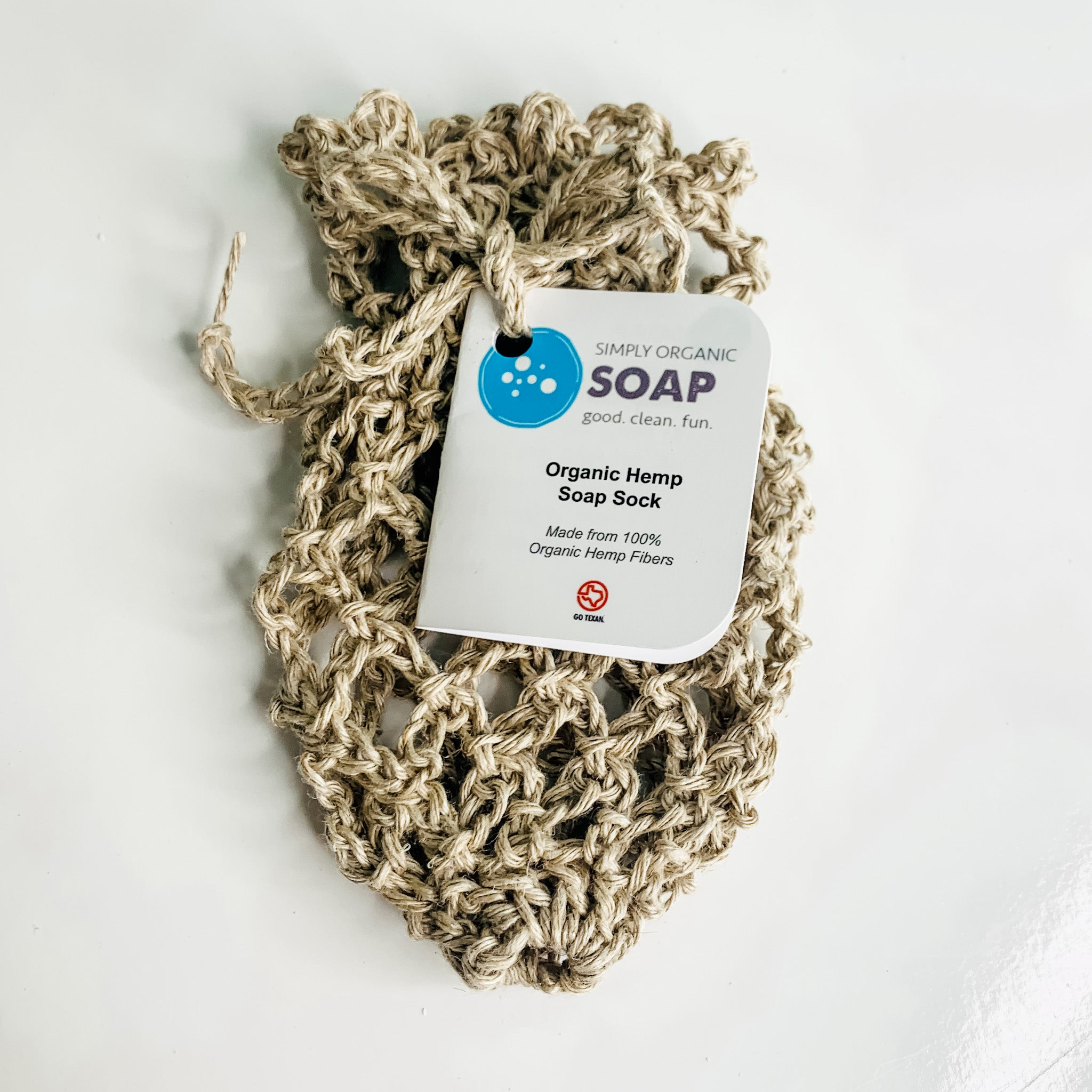 Soap Sock with Organic Hemp Fibers