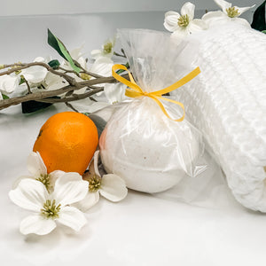 Hand Crafted Bath Bombs with Shea Butter and Sweet Orange EO
