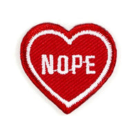 Mini Nope Heart Patch