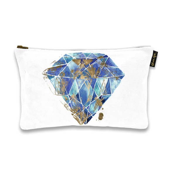 Blue Gemstone Clutch