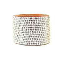 Beaded Silver Ombre Cuff, Wide