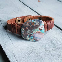Ocean Agate Slab Cuff, Narrow