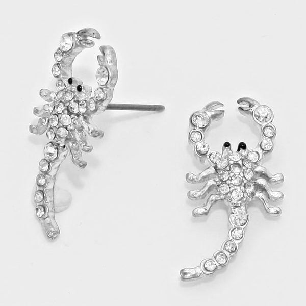 Crystal Scorpion Earrings