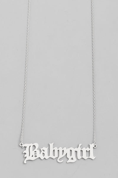 Babygirl Silver Necklace