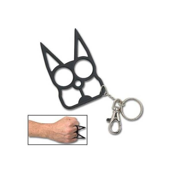 Black Kitty Self Defense Keychain The Skull And Crown
