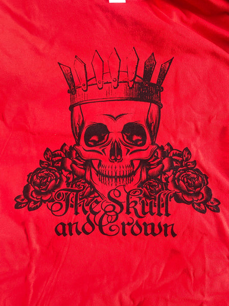 Skull and Crown Red Tee