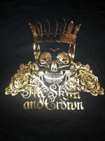 Skull and Crown Gold and Black Tee