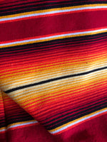 Red and Gold Serape Stripe Blanket