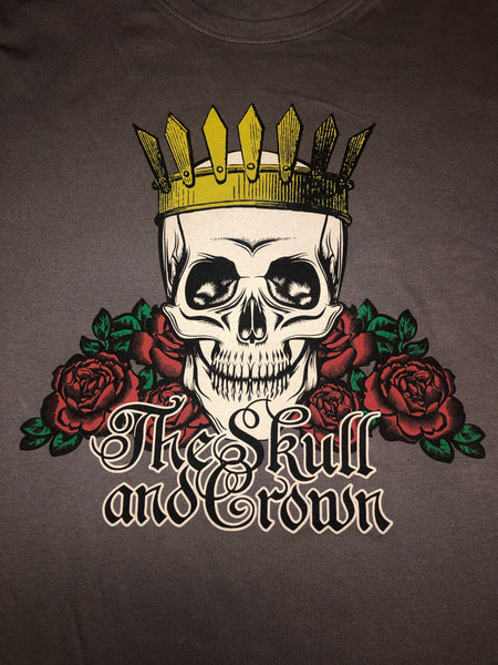 Skull and Crown Gray Tee