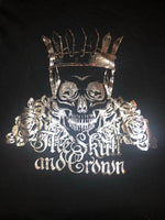 Skull and Crown Silver and Black Tee