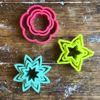 STAR & FLOWER COOKIE CUTTERS