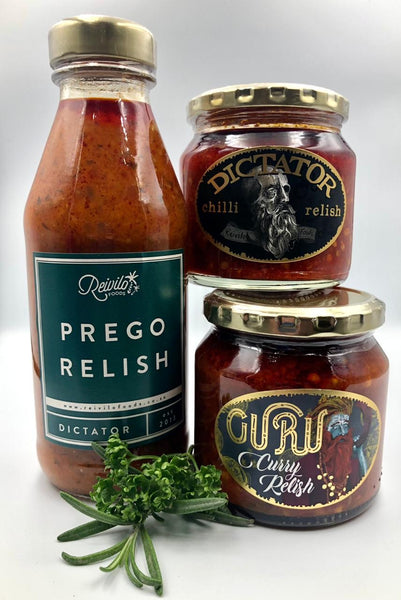 CHILLI SAUCE AND RELISH  -    SET OF 3