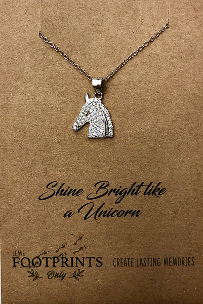 UNICORN SLIVER NECKLACE
