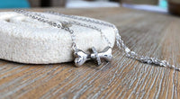 BONE STERLING SILVER NECKLACE