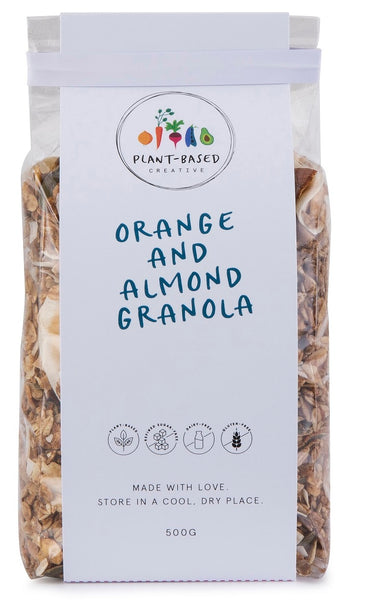 PLANT-BASED CREATIVE GRANOLA - ORANGE AND ALMOND 500G