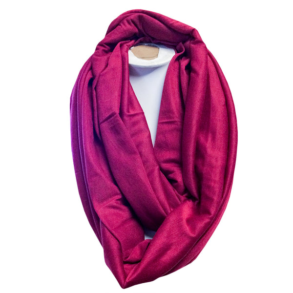 PLAIN SNOOD SCARVES - Available in variety of colours