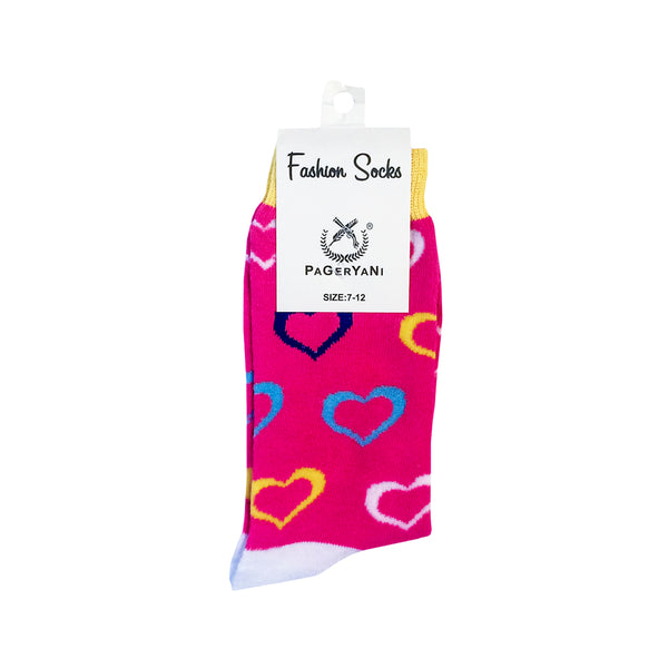 HEART SOCKS - COMES IN VARIETY OF COLOURS - SIZE 7 -12