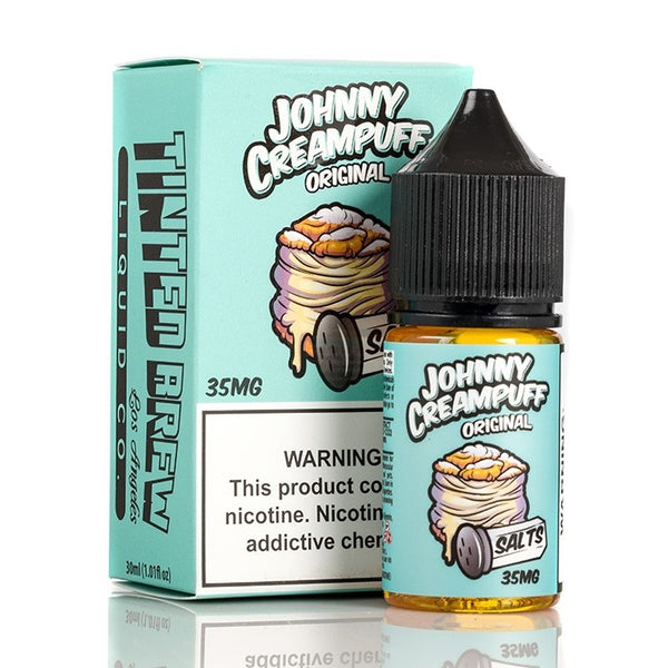 Original Johnny Cream Puff Salts by Tinted Brew 30ML SALTNIC