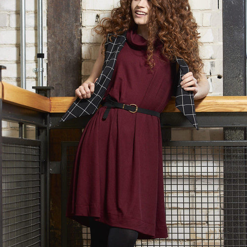 Ford Dress in Cranberry crepe