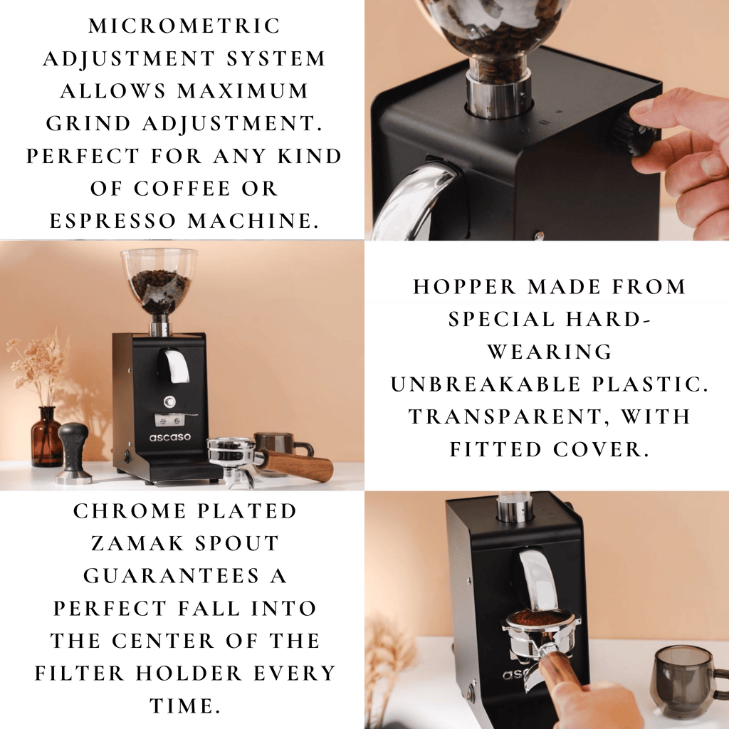 Comiso Coffee - Ascaso i-Steel Coffee Grinder features