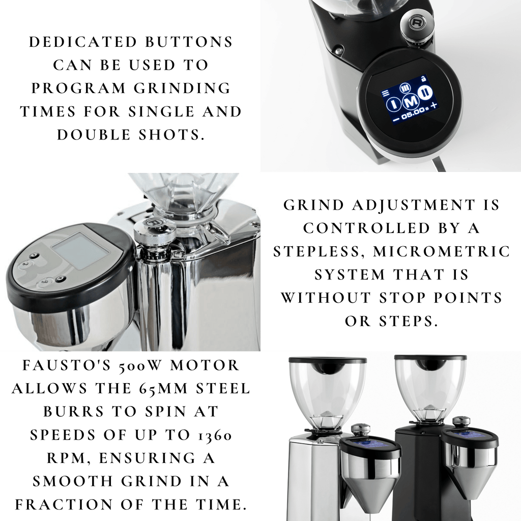 Comiso Coffee - Rocket Fausto Touch Coffee Grinder features