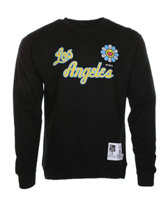 Flower Crew Sweatshirt Black