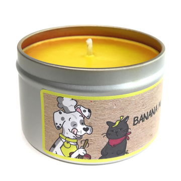 BANANA MUTT BREAD 100% soy wax triple-scented candle