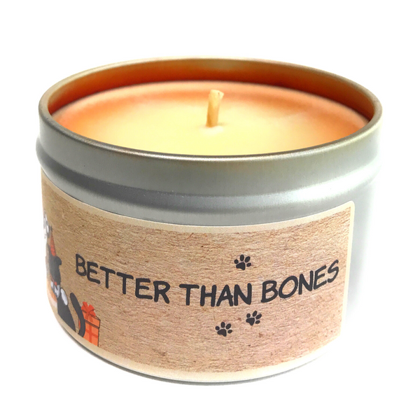 BETTER THAN BONES 100% soy wax triple-scented candle