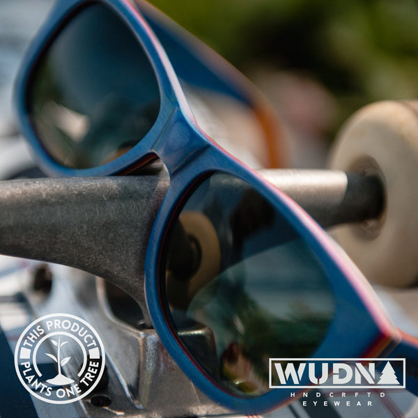 Recycled Skatedeck Escalator Sunglasses by WUDN