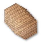 Solid Wood Coasters - 4-Pack