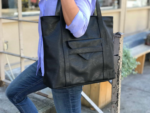 Borough Vegan Leather Tote