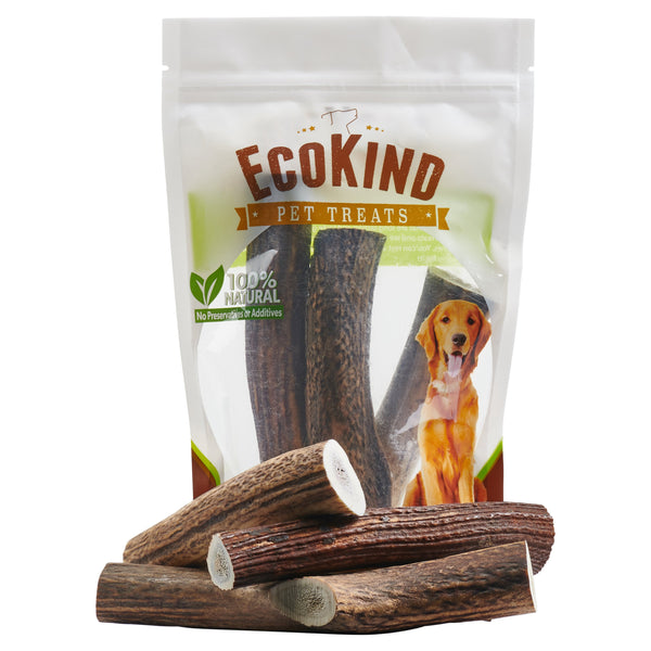 """Whole"" Grade A Whole Elk Antler Dog Chews"