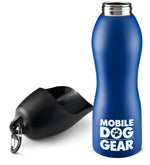 Bundle: MDG 25 Oz Water Bottle (Black) and MDG 25 Oz Water Bottle (Blue)