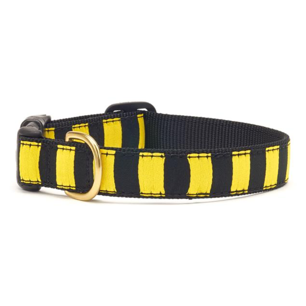 Black Yellow Stripe Dog Collar