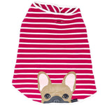Frenchie Shirt | Frenchiestore | Fawn French Bulldog in Bubble Gum