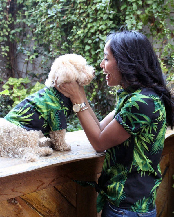 Midnight Palms BBQ Shirt - Matching Sizes for Dogs + Humans