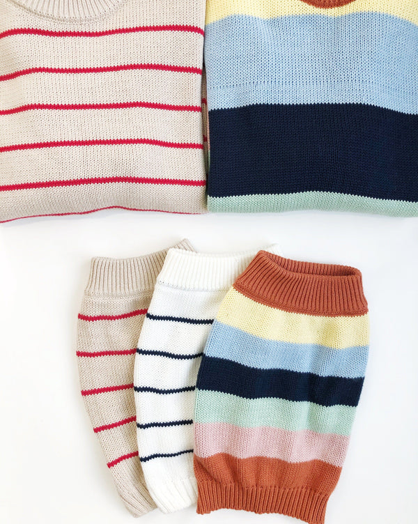 Breton Stripe Sweater - Matching Sizes for Dogs + Humans