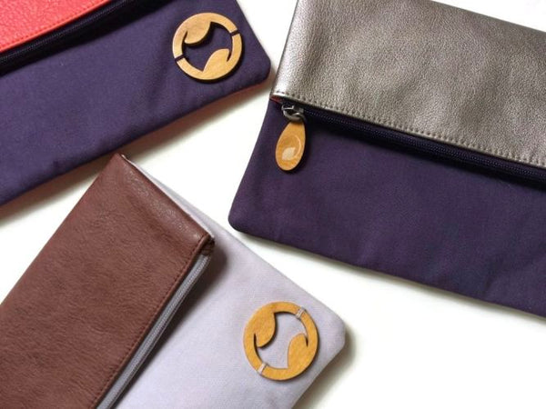 Carroll Foldover Clutch & iPad Purse