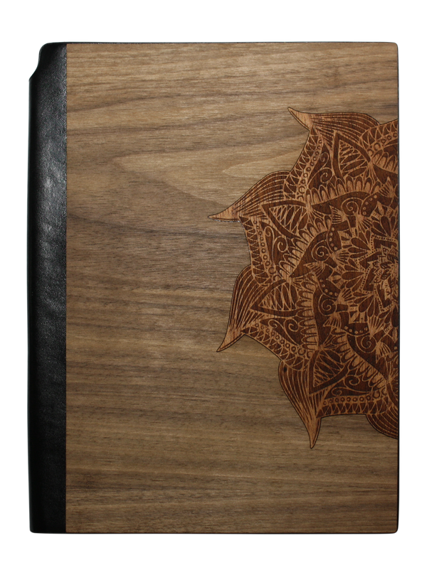 Wooden Journal / Planner | Yoga Mandala Inlay