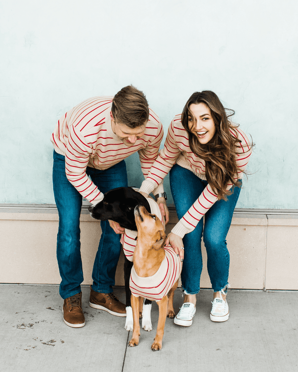 Poppy Stripe Sweater - Matching Sizes for Dogs + Humans