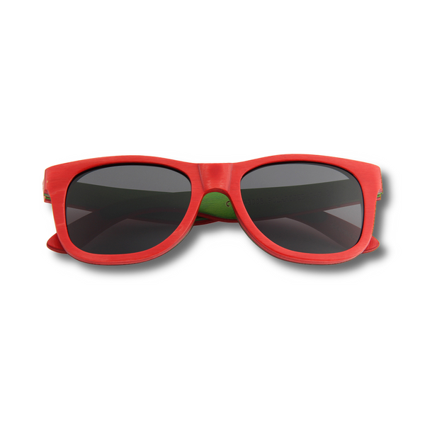 Recycled Skatedeck Bluntslide Red Sunglasses by WUDN