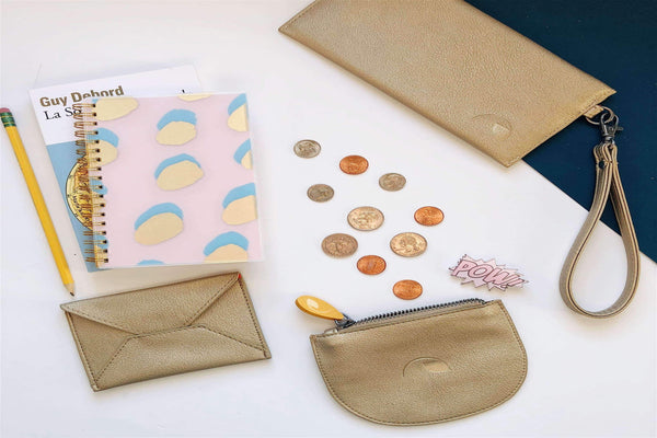 Vegan Gift Set | Card Case + Wallet Wristlet + Coin Purse