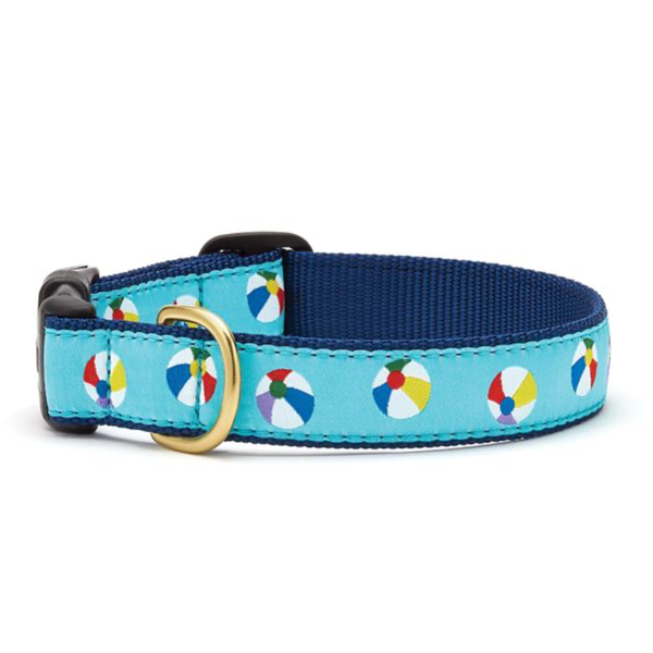 Beach Balls Dog Collar