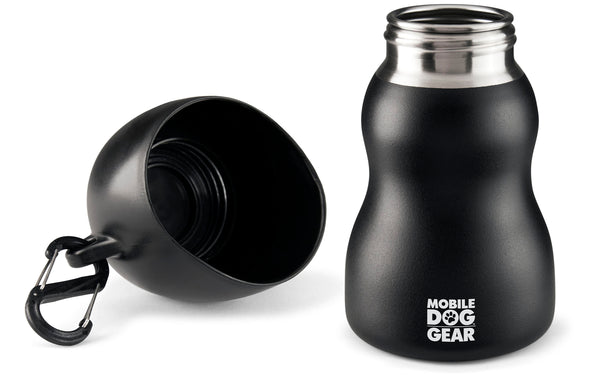 Bundle: MDG 9.5 Oz Water Bottle (Black) and MDG 9.5 Oz Water Bottle (Gray)