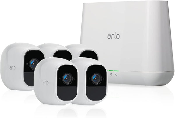 Arlo Pro 2 - Wireless Home Security Camera System with Siren | Rechargeable, Night vision, Indoor/Outdoor, 1080p, 2-Way Audio, Wall Mount | Cloud Storage Included | 2 Camera Kit (VMS4230P) - Dumux&EurekaYa