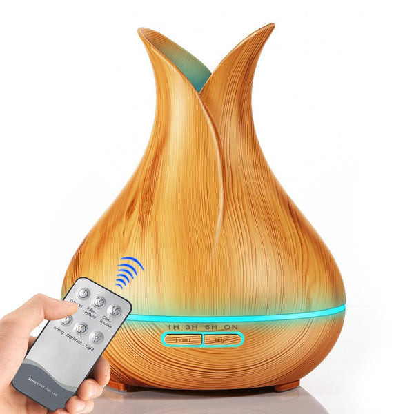 Wooden Grain Petal Essential Oilaroma diffuser capable of relieving pressure and moistening the air - Dumux